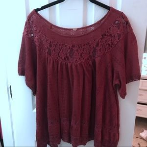Free people boho lace top